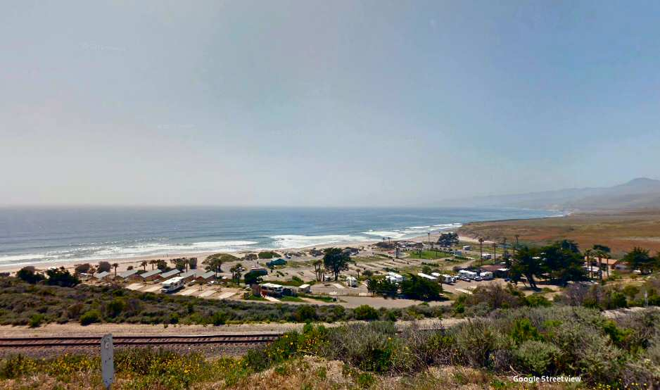 View of the beach and campground from Jalama Road
