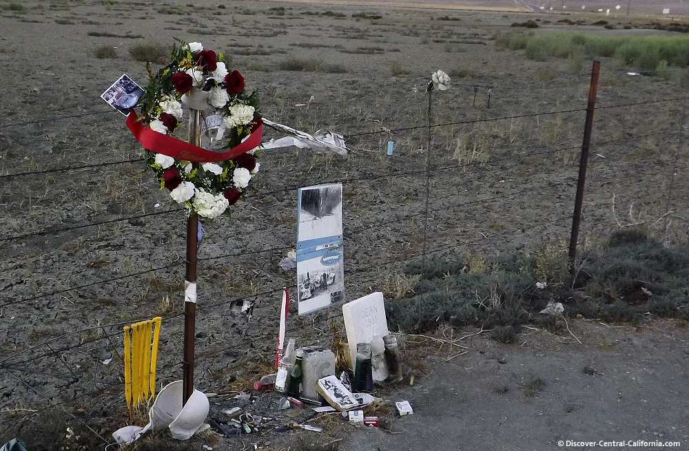 Shrine at the James Dean crash site