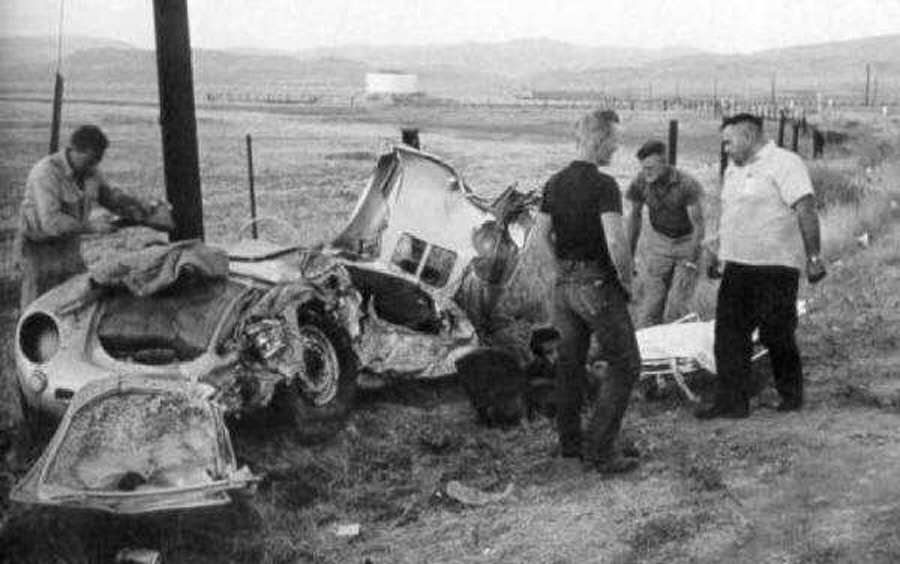 Wreckage of James Dean's car