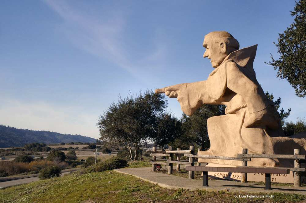 Statue of Junipero Serra at the I-280 rest area