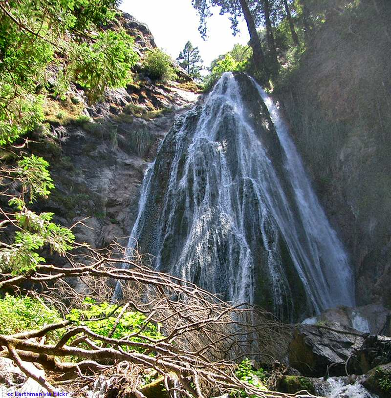 The waterfall on Limekiln Creek at Limekiln State Park