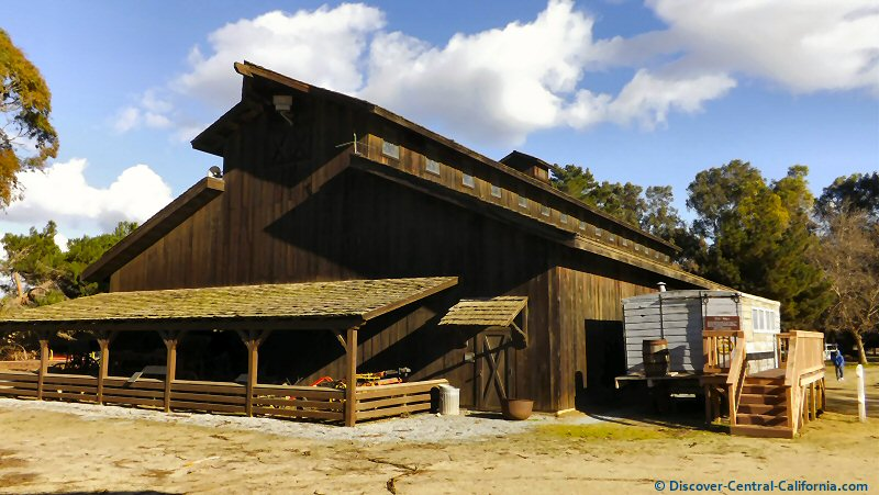 The main exhibit barn at the Monterey County Agricultural and Rural Life Museum, King City, CA