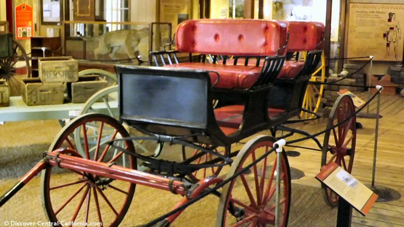 Beautifully restored carriage in the museum barn