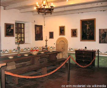 Mission San Carlos friars dining room