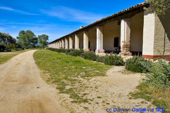 Colonade at the Mission La Purisima