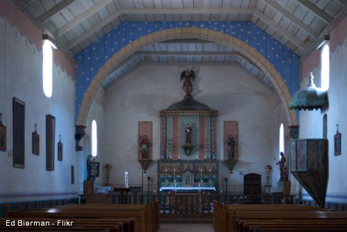 Mission San Antonio Church Interior