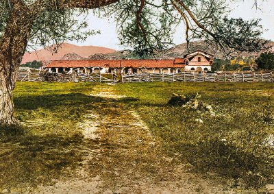Mission San Antonio circa 1898 - the third of the twenty-one missions in California