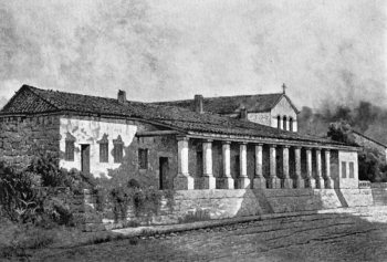 19th Century drawing of the Mission San Luis