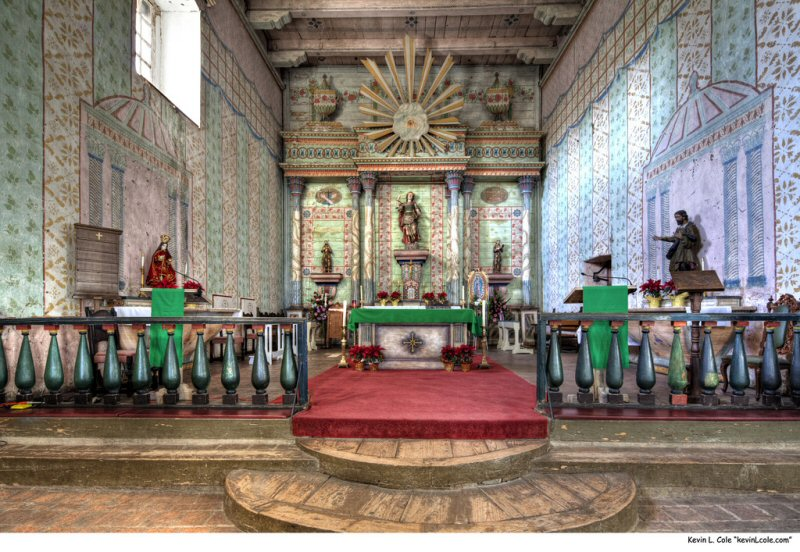The sanctuary at Mission San Miguel