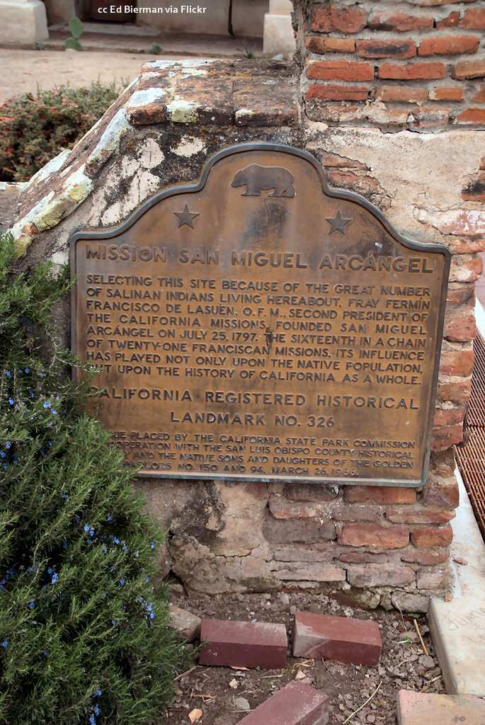 California historic landmark plaque