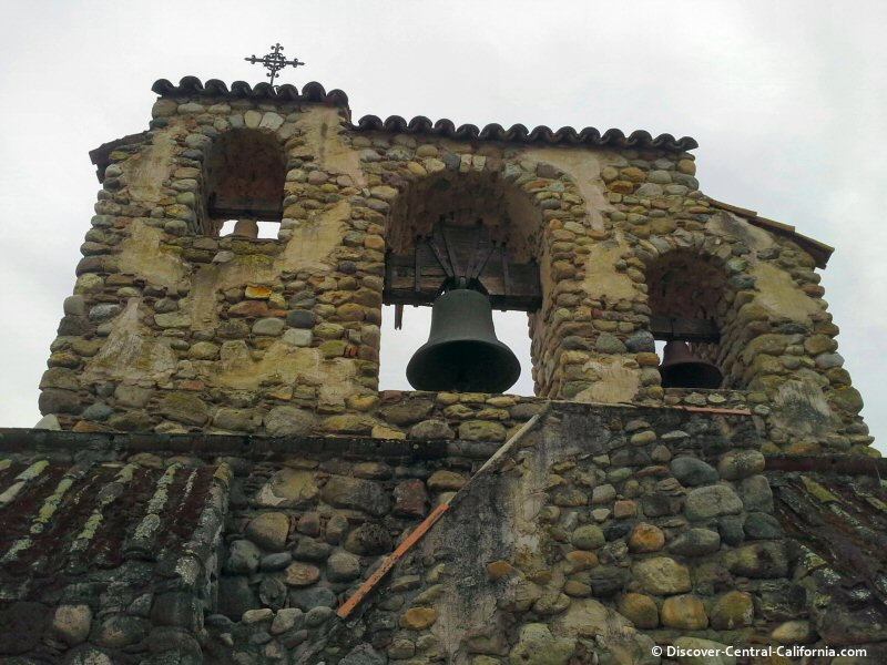 Northern bell tower at Mission San Miguel