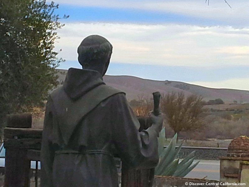 Father Junipero Serra at Mission San Miguel