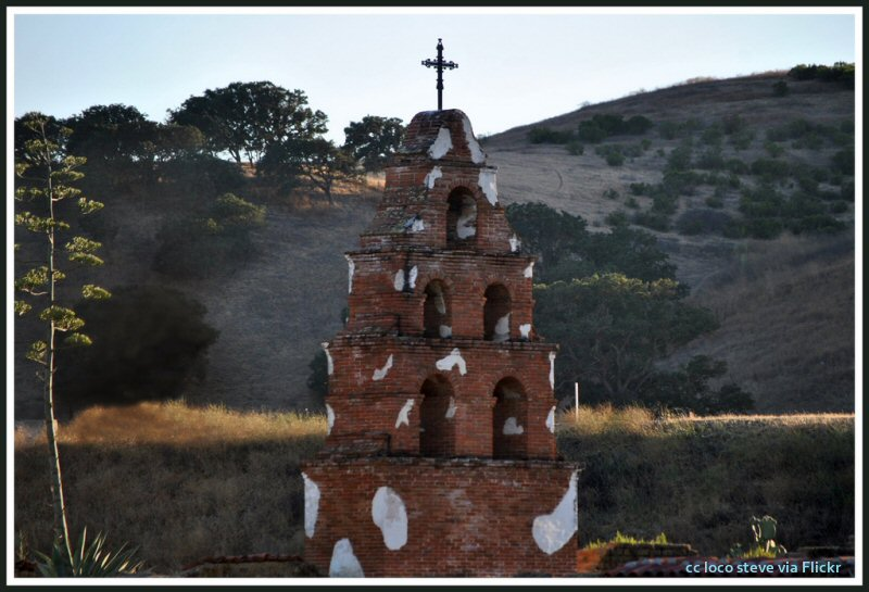 Southern bell tower at Mission San Miguel