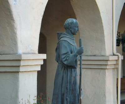 Statue of Junipero Serra at Mission Santa Ines