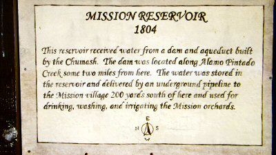 Mission Santa Ines reservoir story board