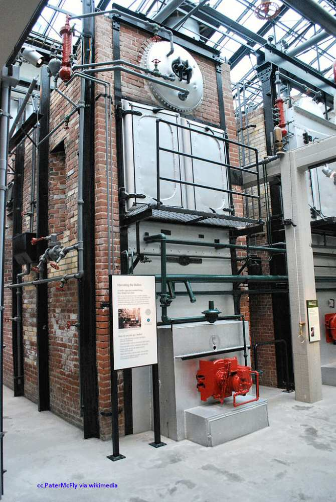 The Hovden boilers at the aquarium