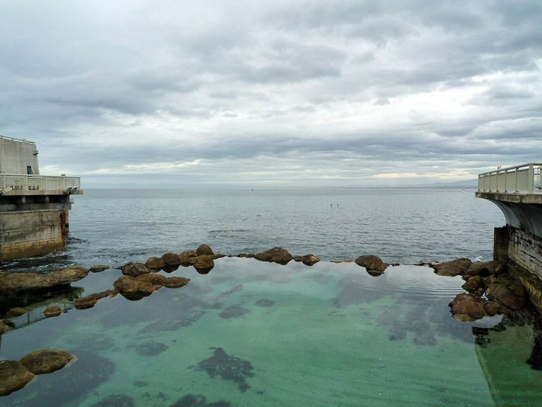 An overcast day on Monterey Bay