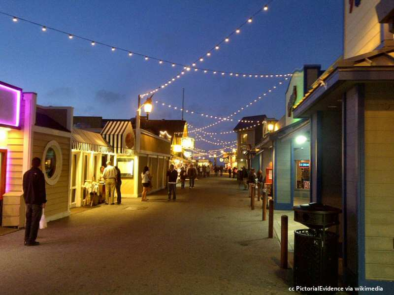 Monterey Fisherman's Wharf at twilight
