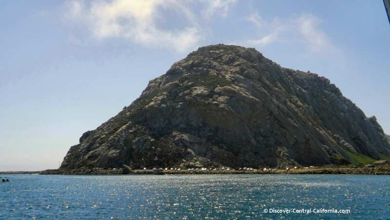 Morro Rock viewed from the harbor of Morro Bay