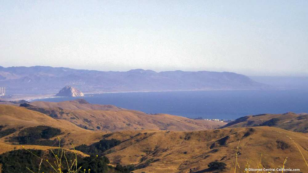 Morro Rock viewed from Highway 46 - a 12 mile view