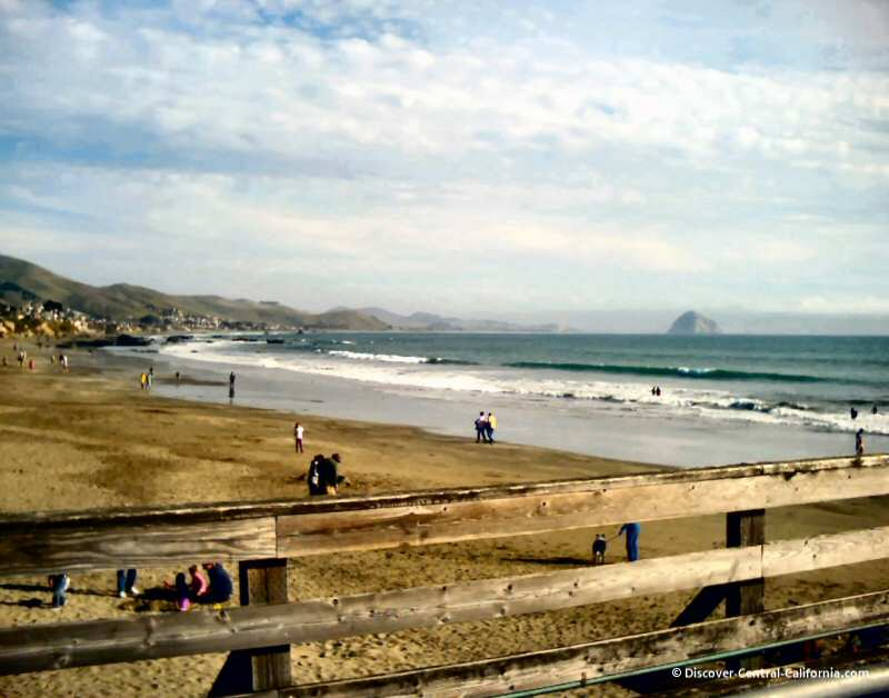 Morro Rock from the Cayucos Pier