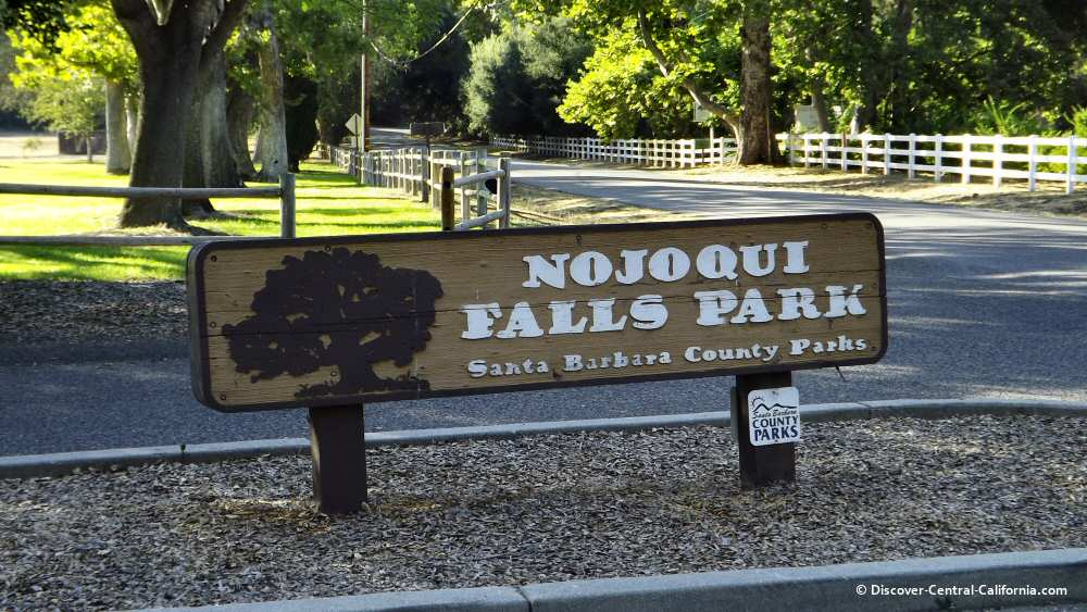 Nojoqui Falls Park main sign