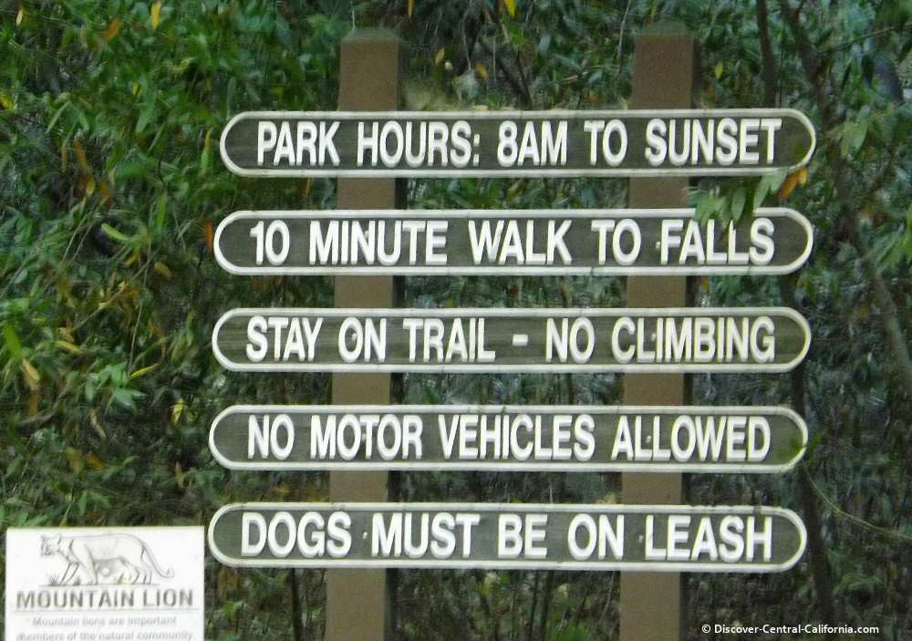 Sign at trailhead to Nojoqui Falls