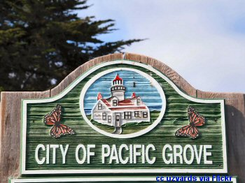 Welcome to Pacific Grove sign