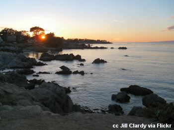 Sunset over Lover's Point in Pacific Grove