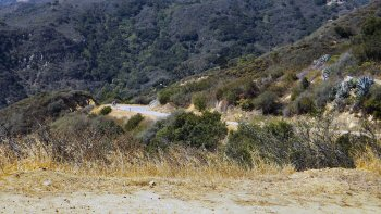 The steepness of the southern end of Painted Cave Road