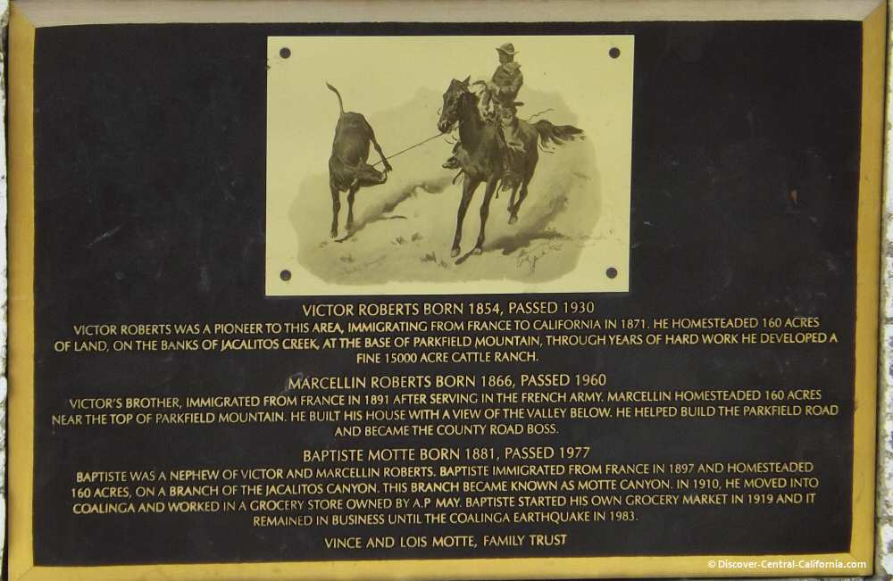 Closeup of historical plaque