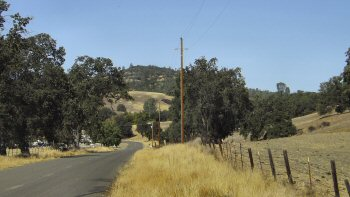 A view of the San Andreas Fault line near Parkfield