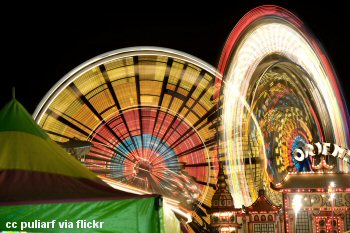 Paso Robles Mid-state Fair at night