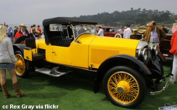 Concours d'elegance on the golf course