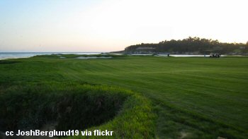 One of the golf courses at Pebble Beach