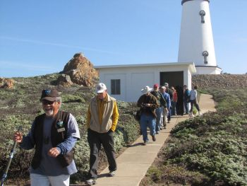 A tour showing the new paintjob on the lighthouse at Piedras Blancas