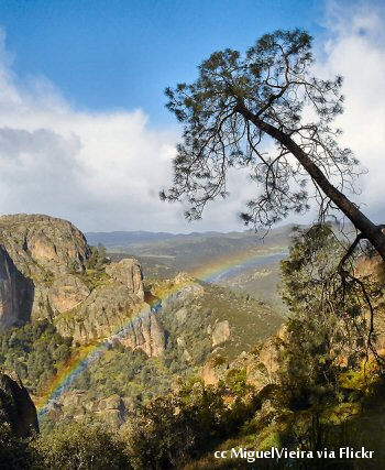 A rainbow at the Pinnacles