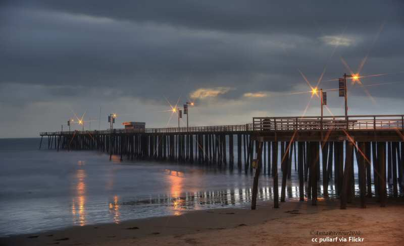 The Pismo Beach Pier at twilight
