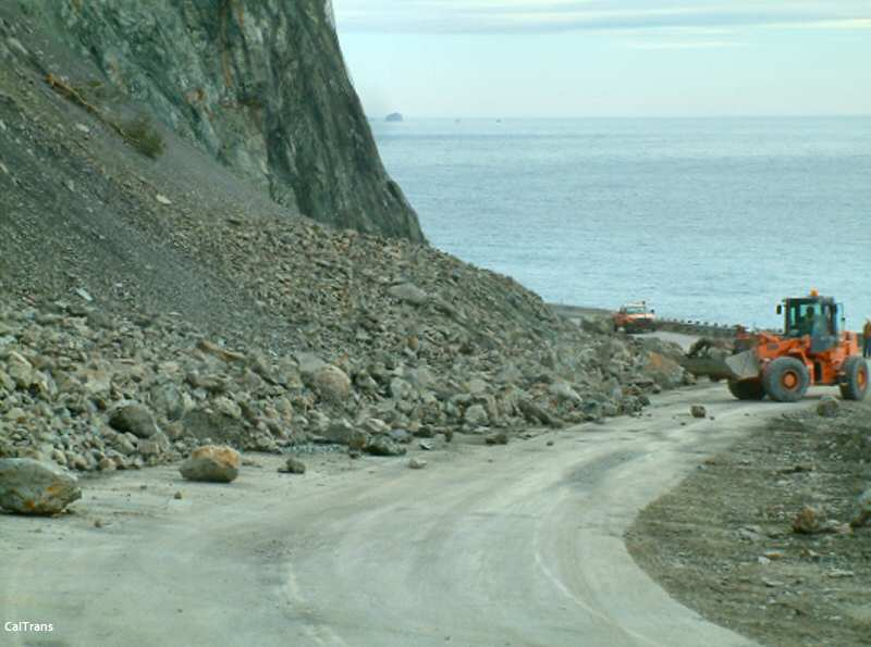 Rainy year rock slide at Pitkins Curve
