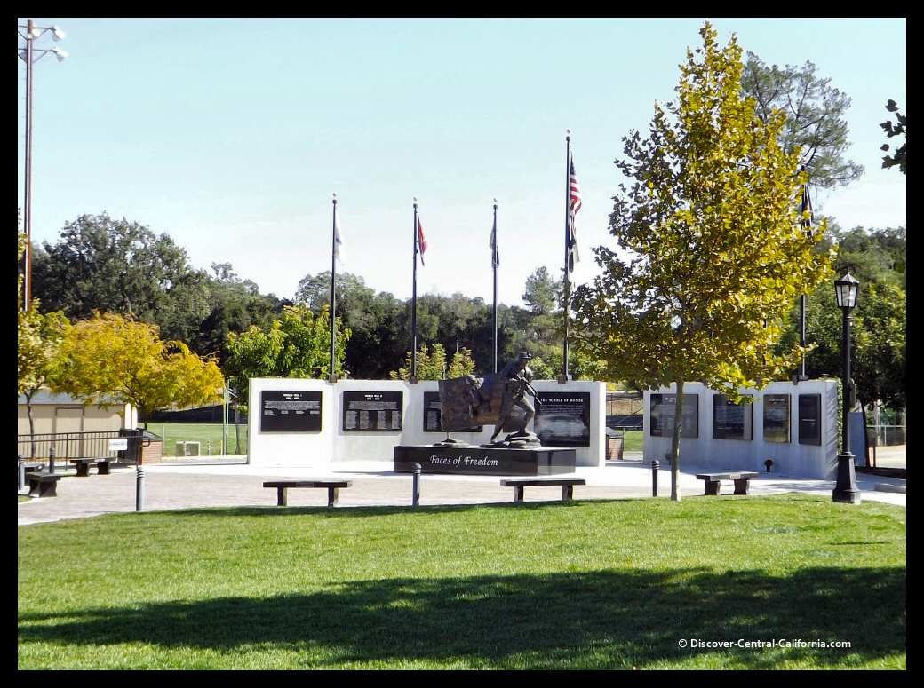 A wide view of the Veterans Memorial in Atascadero