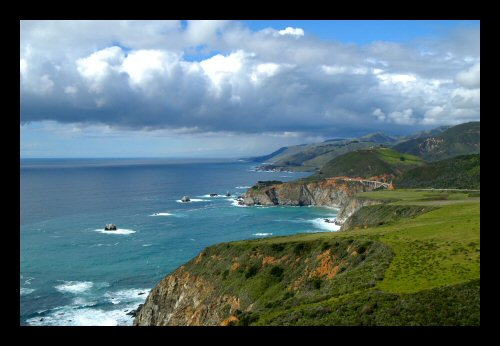 Looking north up the Big Sur coast from Hurricane Point.