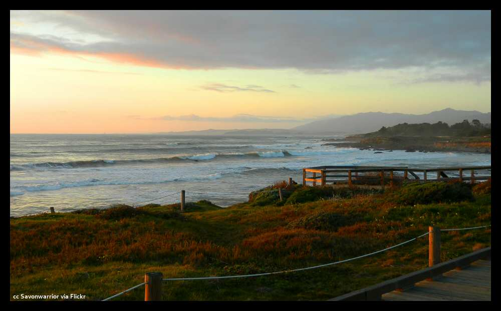 The boardwalk at Moonstone Beach, Cambria