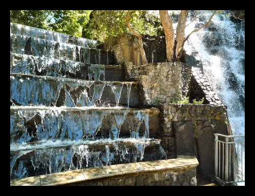 Waterfalls at the Gilroy Gardens theme park