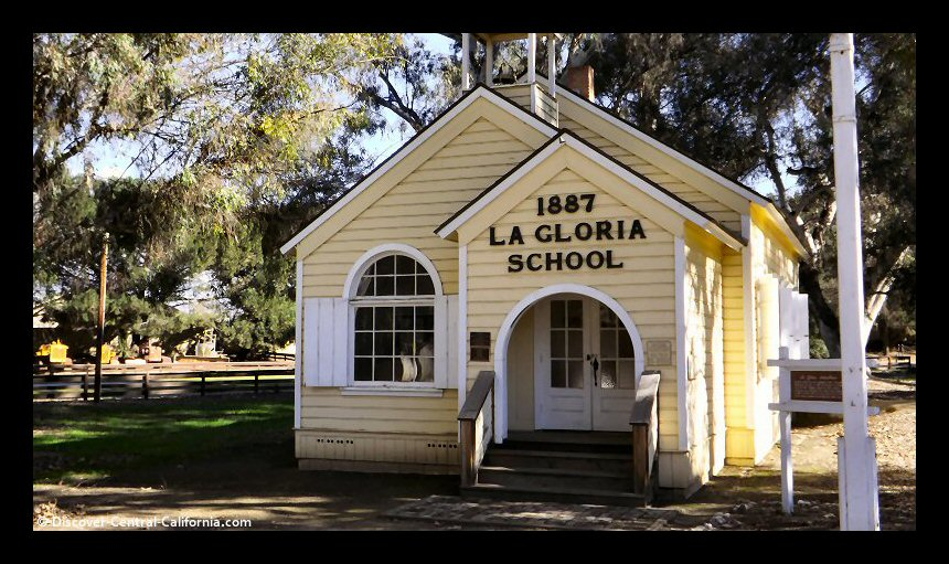 The La Gloria Schoolhouse at the Monterey County Agricultural and Rural Life Museum, San Lorenzo Park, King City