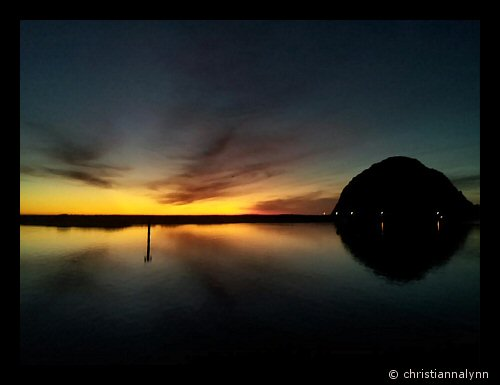 Reflections on a Morro Bay sunset