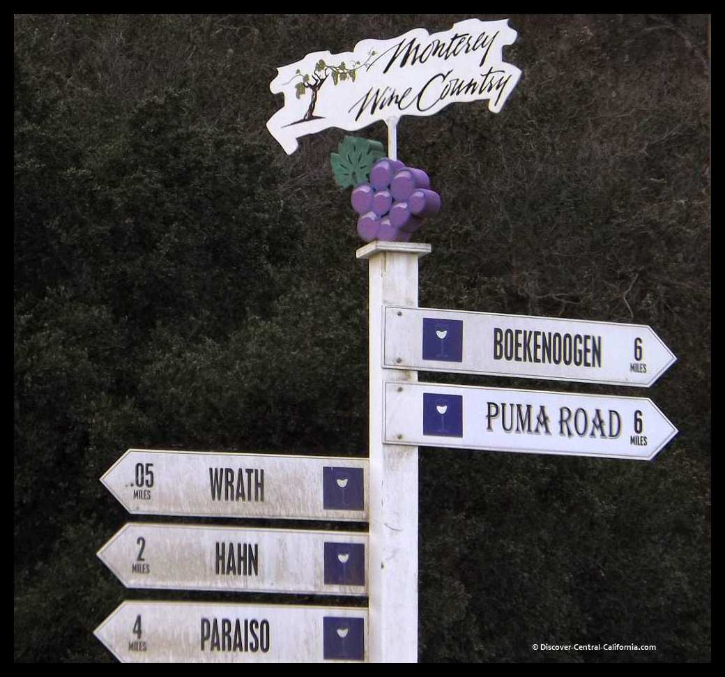 Directional sign for the River Road Wine Trail