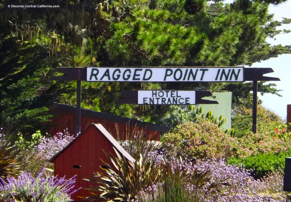 Main sign at the Ragged Point Inn