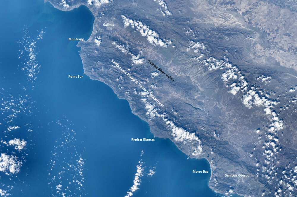 Photo of Central California from the ISS