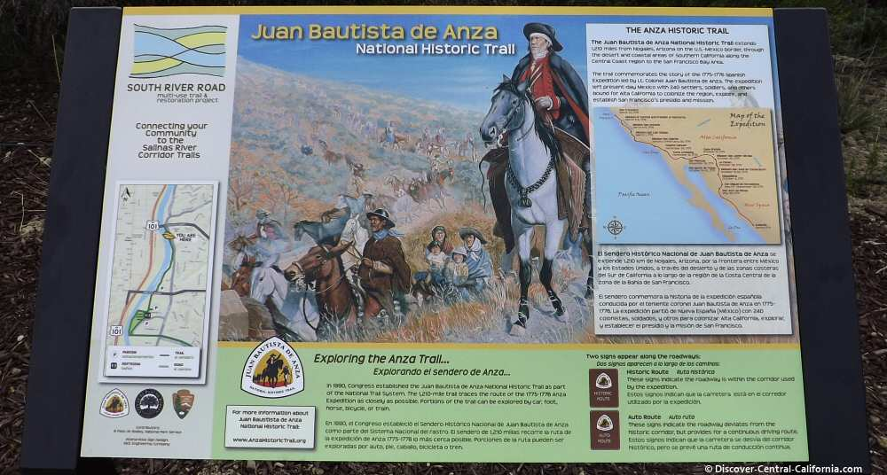 Anza Historical Trail Interpretive board