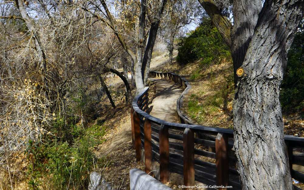 Winding trail along the river
